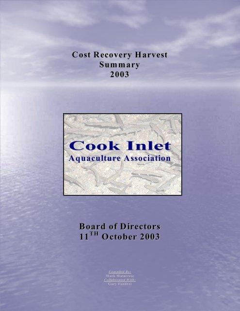 2003 - Cook Inlet Aquaculture