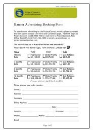 Banner Advertising Booking Form - ProjectConnect