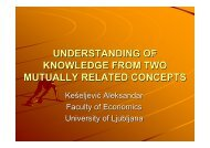 understanding of knowledge from two mutually related concepts