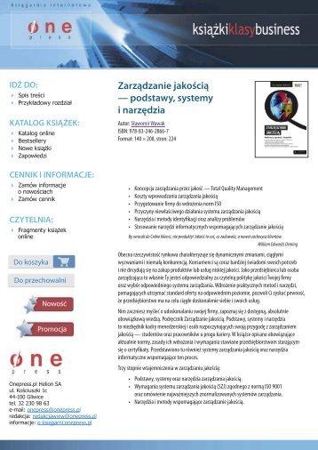 Zarządzanie jakością - podstawy, systemy i narzędzia - Structum