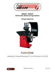 John Bean B9850P/B9855P afbalanceringsmaskine - Flex1one