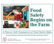 Food Safety Begins on the Farm: A Grower's Self Assessment of ...