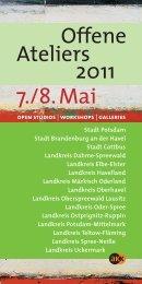 7./8.Mai Offene Ateliers 2011 - Landkreis Potsdam-Mittelmark