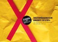 TheaTerpädagogische angeboTe 2013/2014 - Schauspiel Hannover