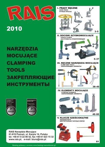 закрепляющие инструменты narzędzia mocujące clamping tools
