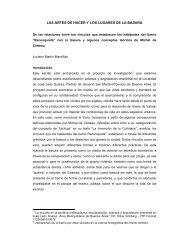 LAS ARTES DE HACER Y LOS LUGARES DE LA BASURA