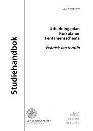Studiehandbok - Student LTH - Lunds Tekniska Högskola