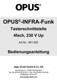 UP-Tasterschnittstelle 4-fach, 230 V (Art.-Nr. 561.652) - OPUS Schalter