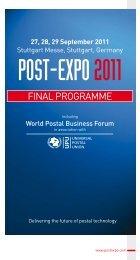 Thursday 29 September - Post-Expo