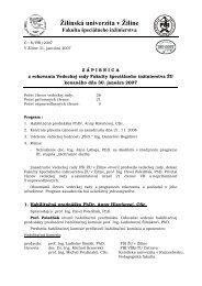 ved.rada zapisnica - Fakulta špeciálneho inžinierstva - Žilinská ...