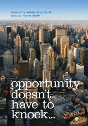 inner-city scholarship fund annual report 2008