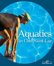 Aquatics - City of Côte Saint-Luc