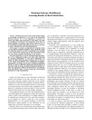 Maximum Entropy Modelling for Assessing Results on Real-Valued ...