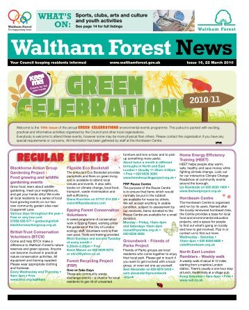 Issue 16: Green Celebrations - Waltham Forest Council
