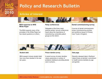 Policy Bulletin No9 Autumn 2010_1.pdf - the British Association of ...