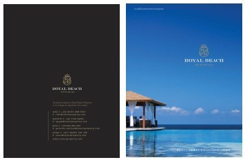 Royal Beach Brochure - Restless Earth