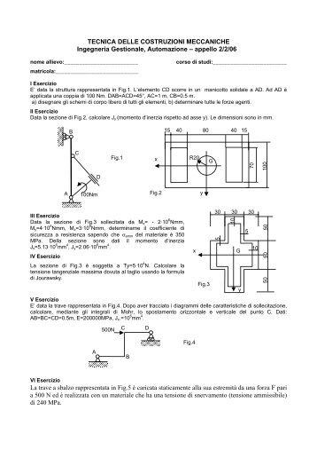 tecnica delle costruzioni meccaniche - Ingegneria Meccanica ...