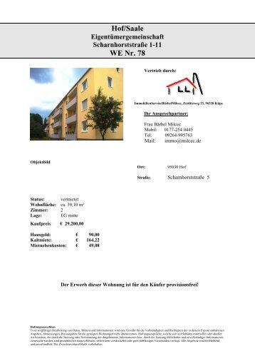 Hof/Saale WE Nr. 78 - Immobilien.de