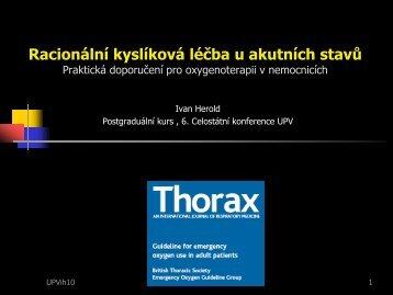 Racionální kyslíková léčba u akutních stavů – praktická doporučení ...