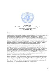 Cyclone Sidr United Nations Rapid Initial Assessment Report