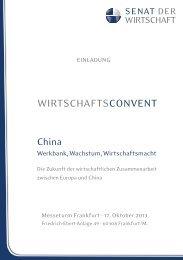 WIRTSCHAFTSCONVENT - Senat der Wirtschaft