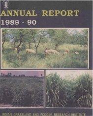 IGFRI Annual Report 1989-1990 - Indian Grassland and Fodder ...