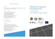 GHS Review Conference for Southeast Asia