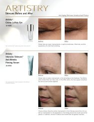 Skincare Before and After ARTISTRY® Creme LuXury Eye ... - Amway