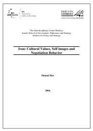 Iran: Cultural Values, Self images and Negotiation Behavior