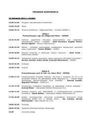 PROGRAM KONFERENCJI - Instytut Techniki Górniczej KOMAG