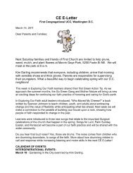 CE E-Letter March 14, 2011 - First Congregational UCC Washington ...