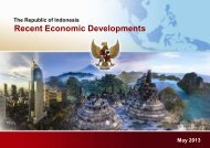Presentation on Recent Economic Developments of Indonesia (May)