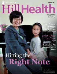 Hitting the - Hill Physicians Medical Group