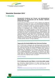 Newsletter Dezember 2010 - Koordinierungsstelle zur Förderung ...