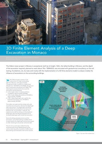 3D FE Analysis of a Deep Excavation.pdf - Plaxis