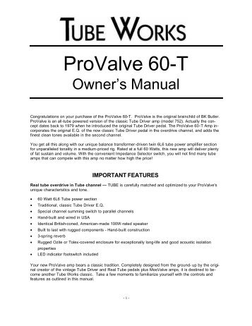 ProValve 60-T - Genz Benz