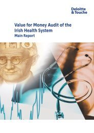 Value for money audit of the Irish health system