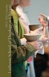 current Catalog - Lutheran School of Theology at Chicago