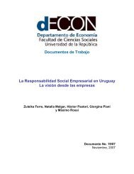 Documentos de Trabajo La Responsabilidad Social Empresarial en ...