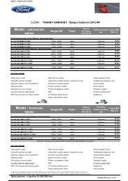 Cjenik Ford Transit Å¡asija (PDF)