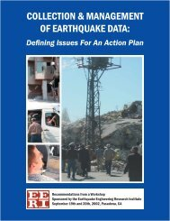 Collection & Management of Earthquake Data: Defining Issues For ...