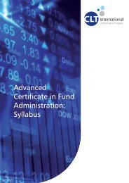 Advanced Certificate in Fund Administration: Syllabus