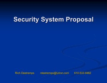 Security System Proposal 3/13 - Seven Generations Charter School