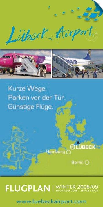 Linienflüge Scheduled flights Ankunft Lübeck Arrival