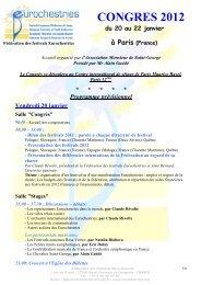 programme du congres 2012 - Eurochestries