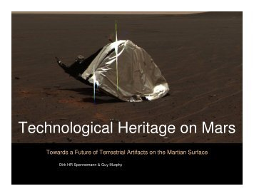 Technological Heritage on Mars