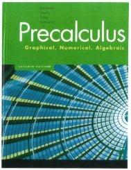 Pre-Calculus (PDF)