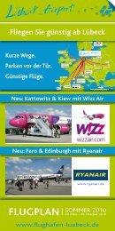 Fliegen Sie günstig ab Lübeck - Pro Airport Lübeck e. V.