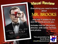 MR. BROOKS - Visual Hollywood