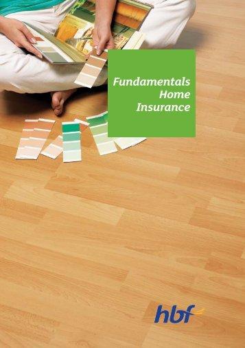 Fundamentals Home Insurance - HBF